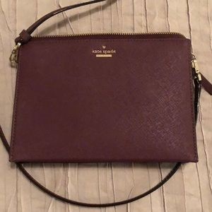 Purple Kate Spade crossbody bag